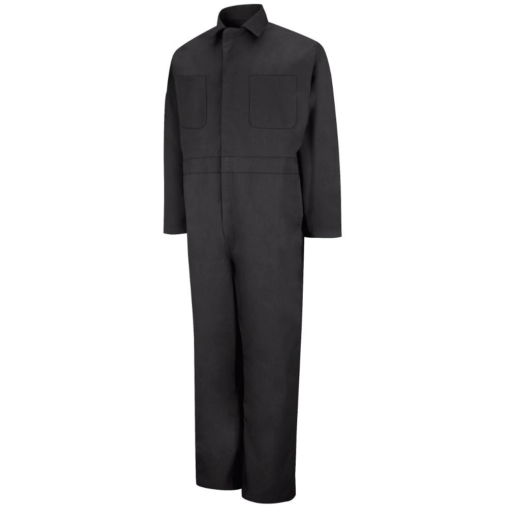Men's Size 44 (Tall) Black Twill Action Back Coverall