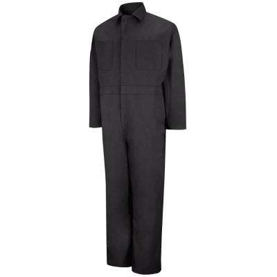 Men's Size 56 Black Twill Action Back Coverall
