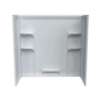 Ovation 30 in. x 60 in. x 58 in. 3-piece Direct-to-Stud Tub Surround in Arctic White