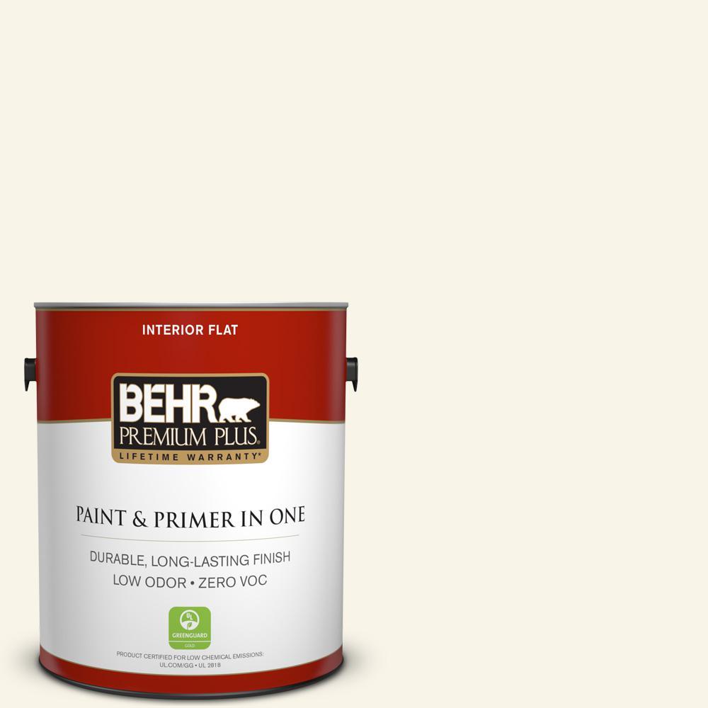 BEHR Premium Plus 1-gal. #PWN-21 Fragrant Jasmine Zero VOC Flat Interior Paint