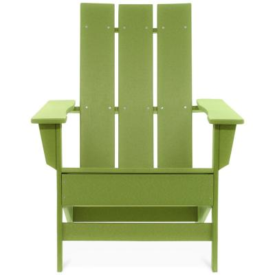 Aria Lime Recycled Plastic Modern Adirondack Chair