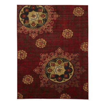 5 X 7 Rustic Rubber Backed Area Rugs Rugs The Home Depot