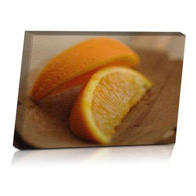 24 in. x 16 in. Rustic Oranges Printed Canvas