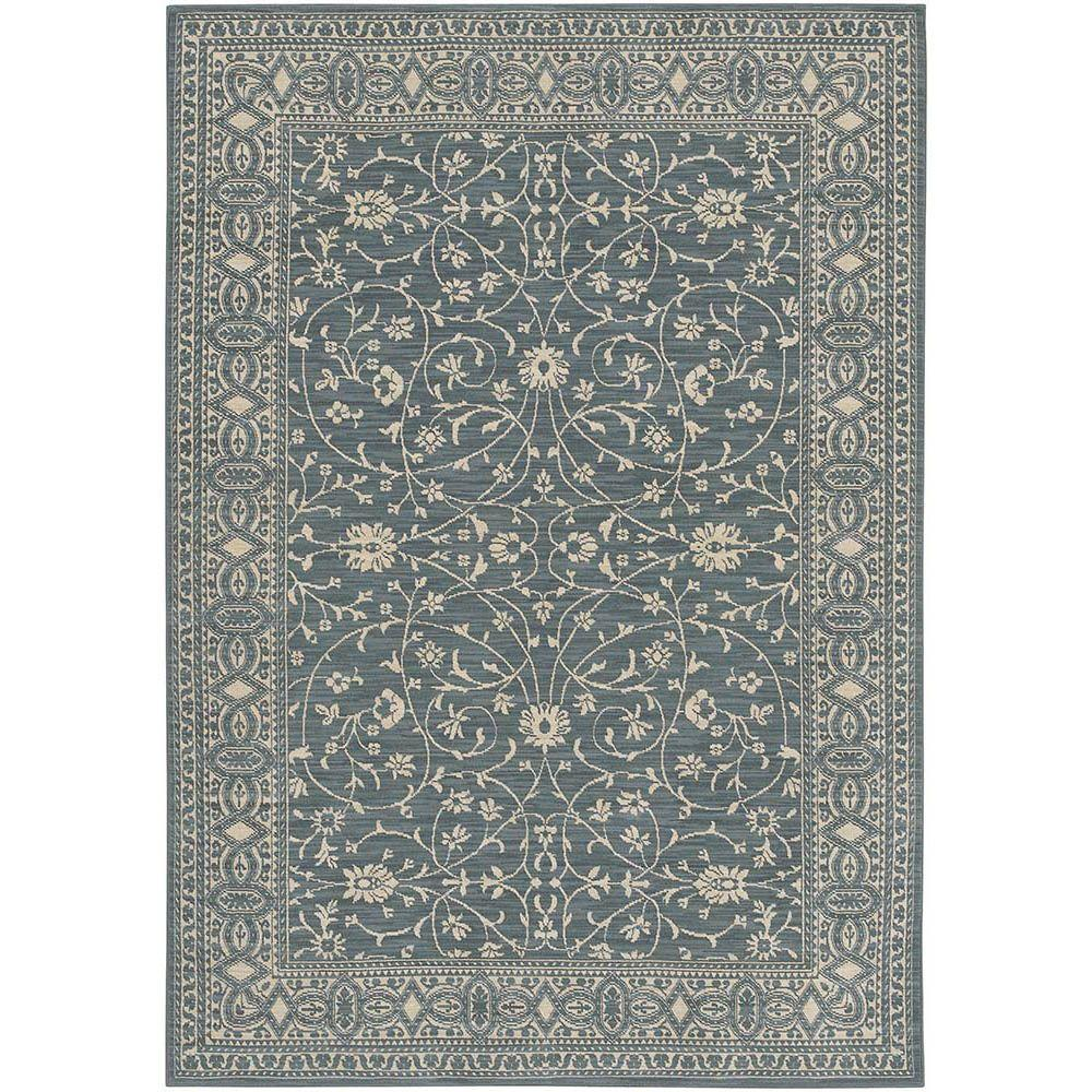 Karastan Somerset Lane Blue 5 ft. 7 in. x 7 ft. 11 in. Area Rug