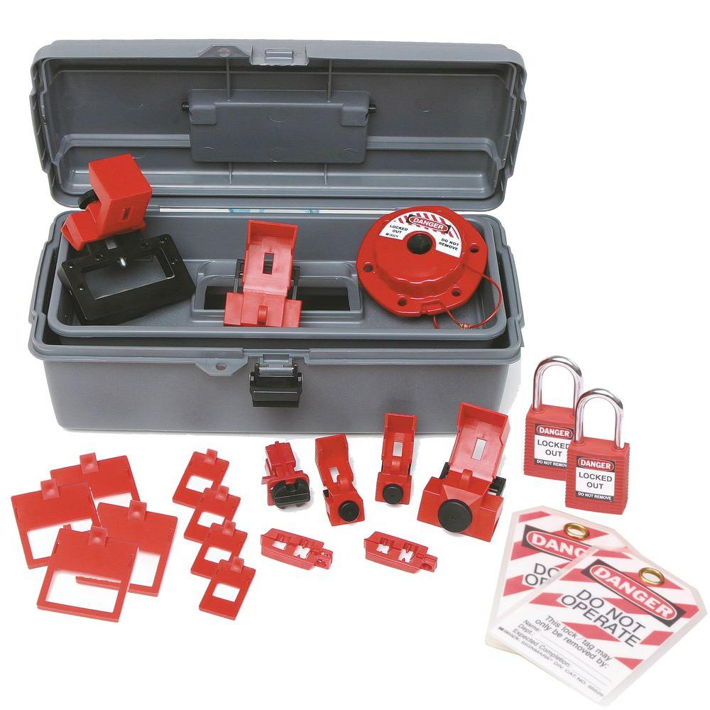 Breaker Lockout Toolbox Kit with Safety Padlocks and Tags