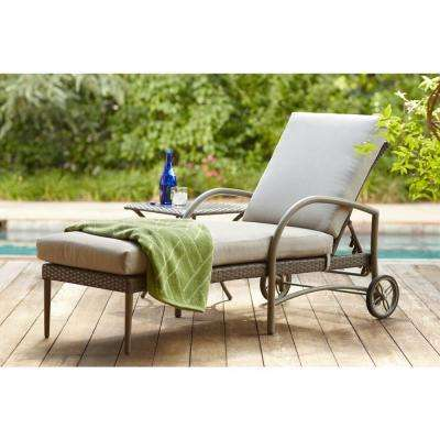 Superb Posada Patio Chaise Lounge With Gray Cushion