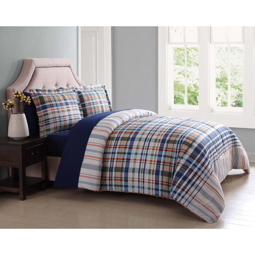 Cornwall Blue 7-Piece King Bed Ensemble