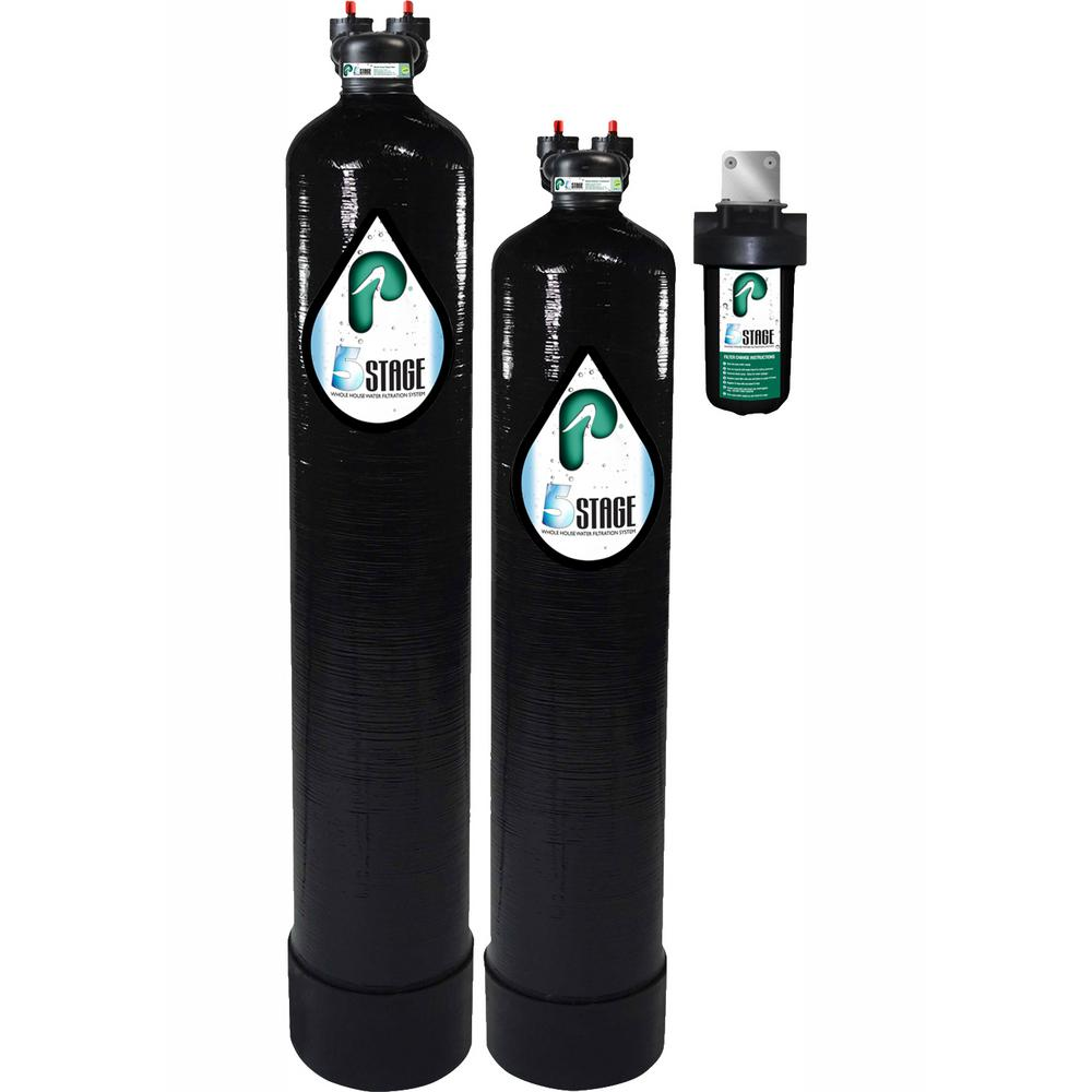 Pelican Water 15 GPM 5-Stage Whole House Water Filtration and NaturSoft Salt-Free Softener System