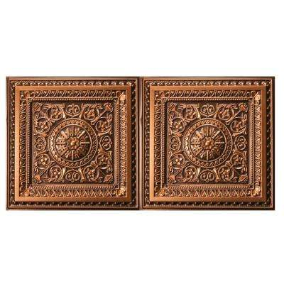Marseille 2 ft. x 4 ft. Lay-in or Glue-up Ceiling Tile in Antique Gold (80 sq. ft. / case)