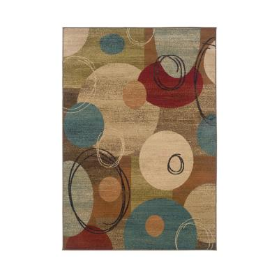 Penfield Multi-Colored 8 ft. x 10 ft. Contemporary Geometric Indoor Area Rug
