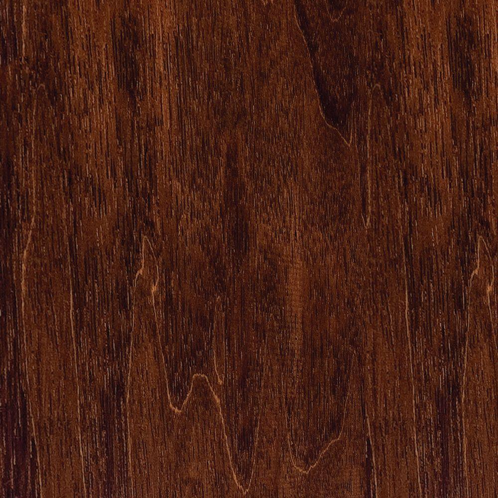 Take Home Sample - Hand Scraped Moroccan Walnut Click Lock Hardwood Flooring - 5 in. x 7 in.