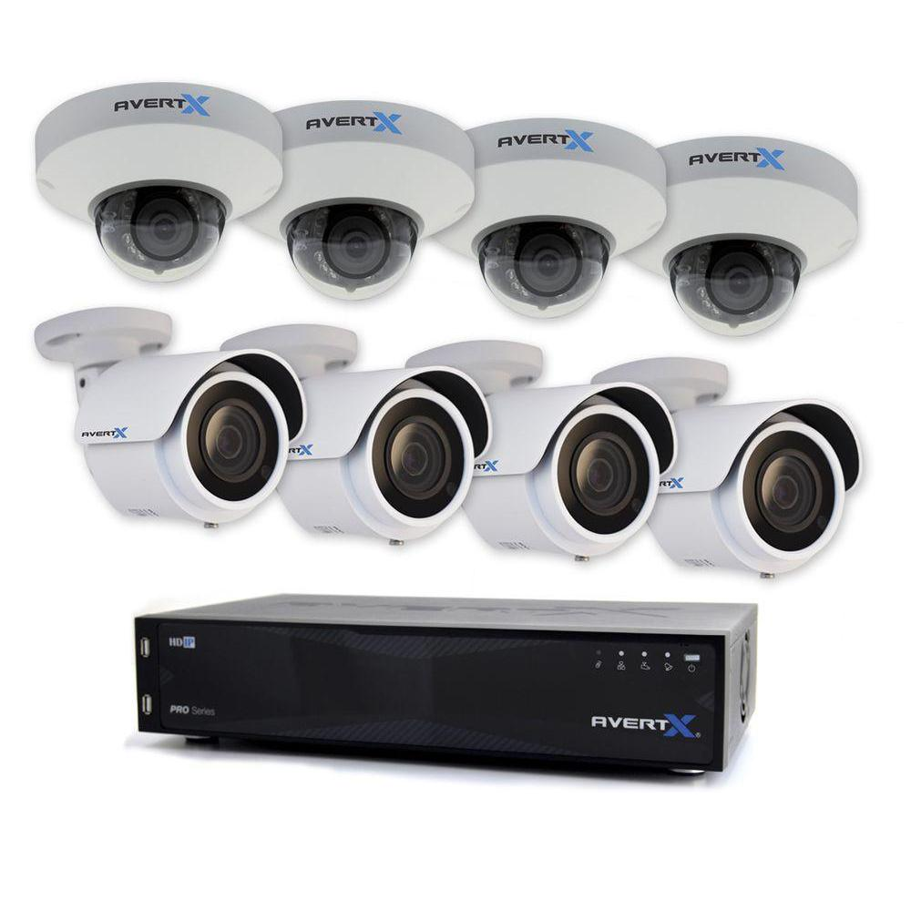 Avertx Pro 16 Channel Hd Ip Surveillance System With 8tb