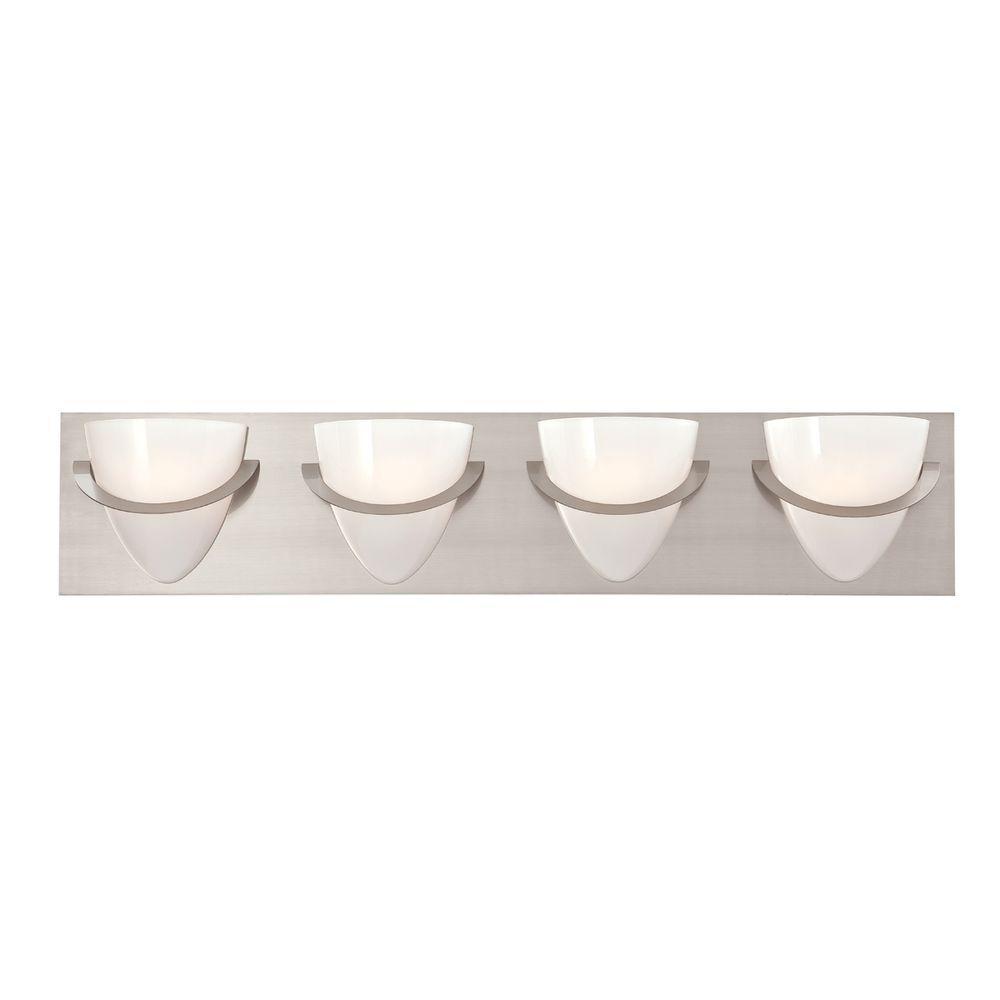 Forma Collection 4-Light Satin Nickel Bath Bar Light
