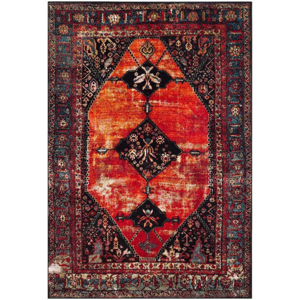Vintage Hamadan Orange/Multi 7 ft. x 9 ft. Area Rug