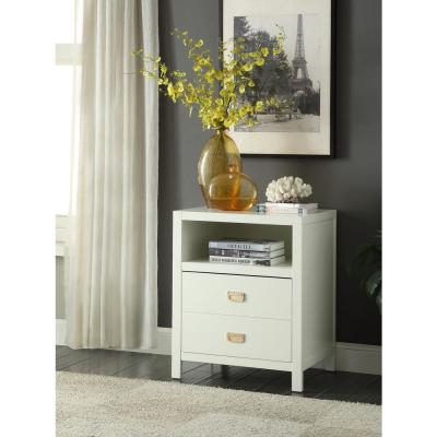 Peggy White End Table
