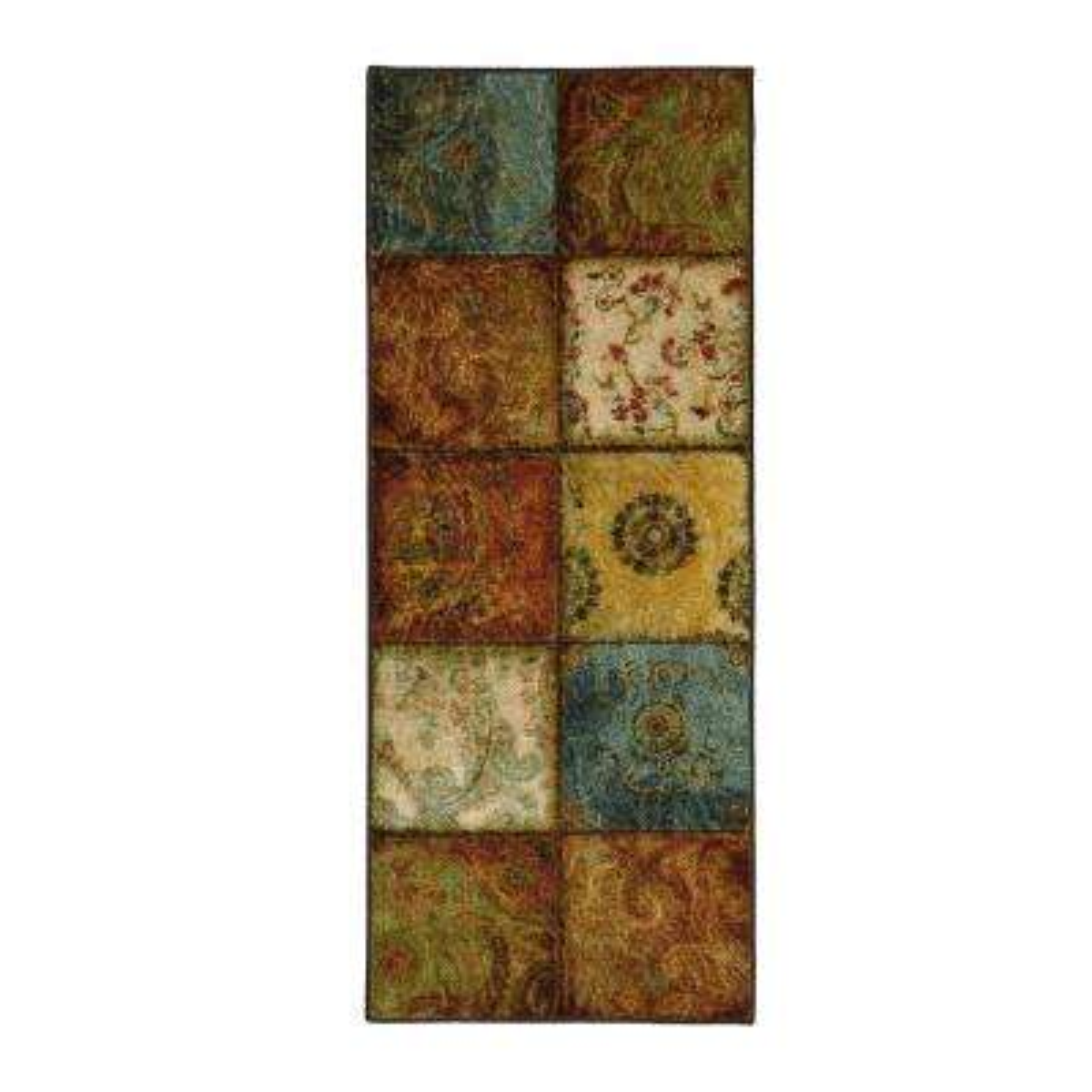 Artifact Panel Multi 2 ft. x 5 ft. Runner Rug