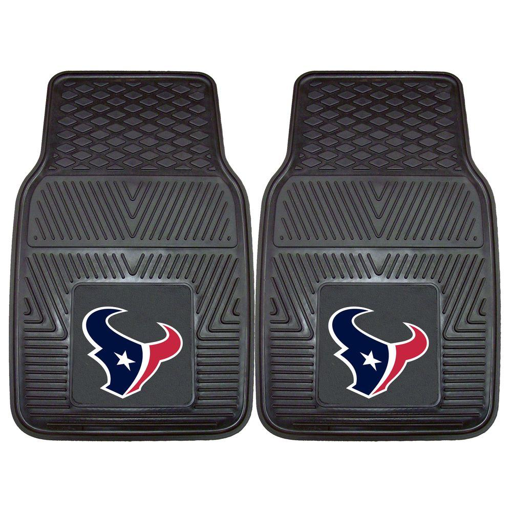 Houston Texans 18 in. x 27 in. 2-Piece Heavy Duty Vinyl