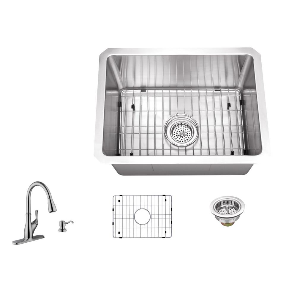 Delicieux IPT Sink Company Undermount Stainless Steel 15 In. 16 Gauge Bar Sink In  Brushed