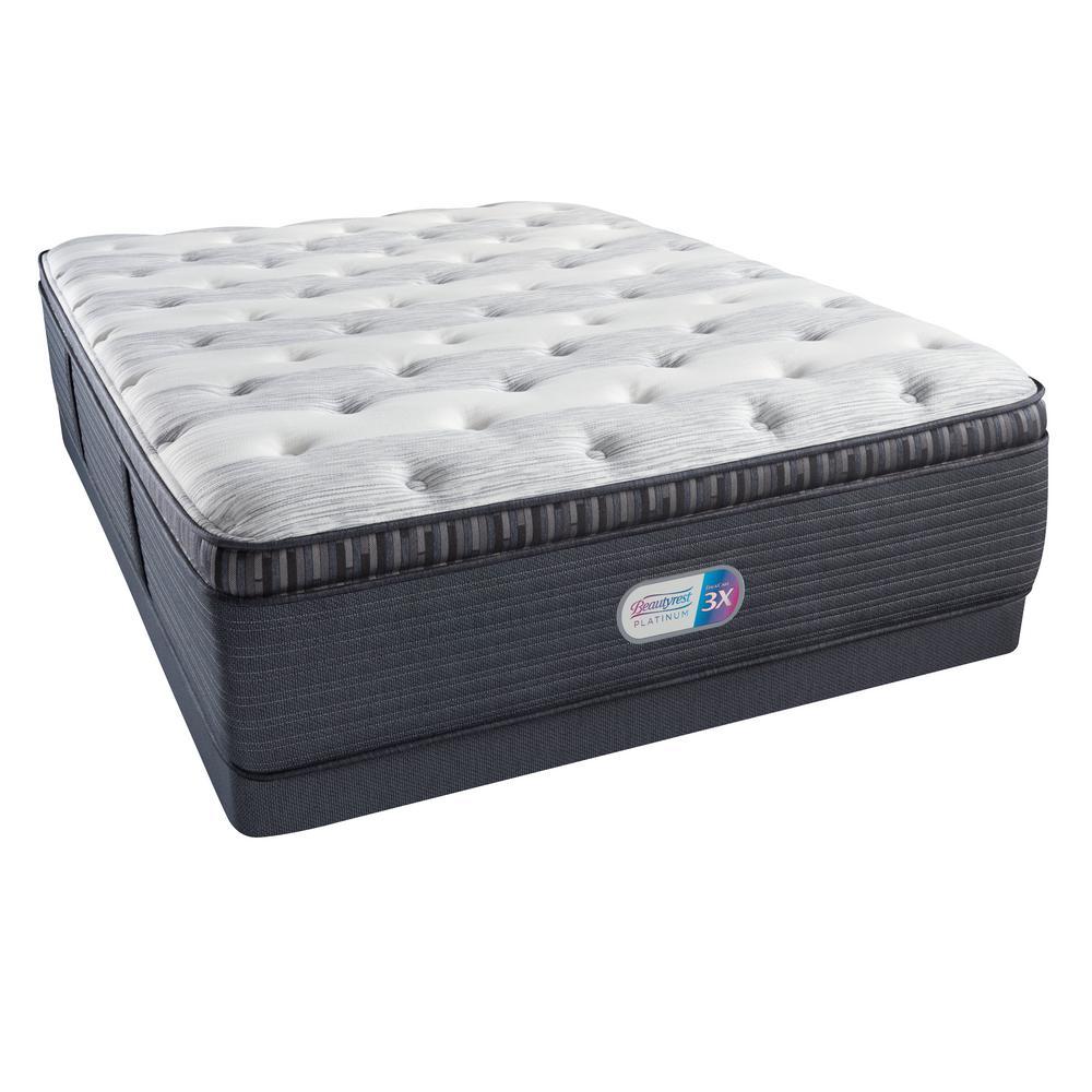Platinum Haven Pines Plush Pillow Top Queen Low Profile Mattress Set