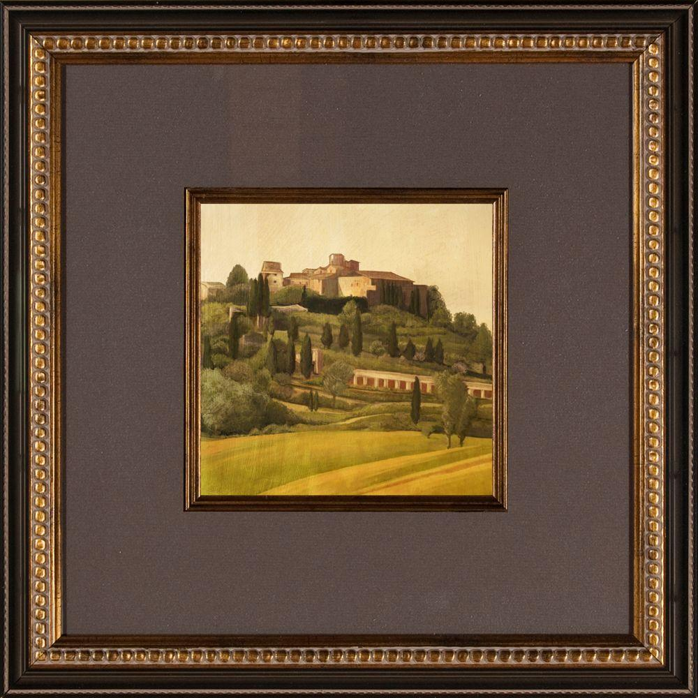 "null 16.5 in. x 16.5 in. ""Tuscan Hillside A"" Framed Wall Art"
