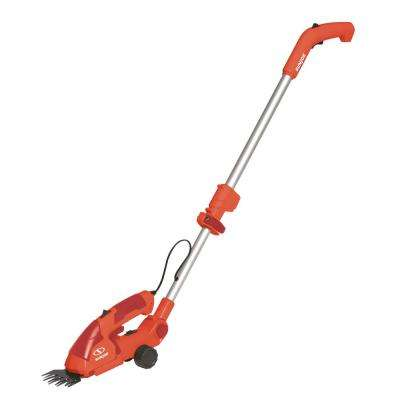 7.2-Volt 2-in-1 Cordless Grass Shear and Hedge Trimmer with Extension Pole in Red