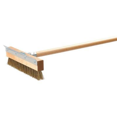 10 in. Replacement Head Pizza Oven Brush with Scraper (Case of 12)