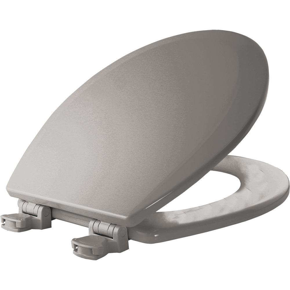 Church Lift Off Round Closed Front Toilet Seat In Silver