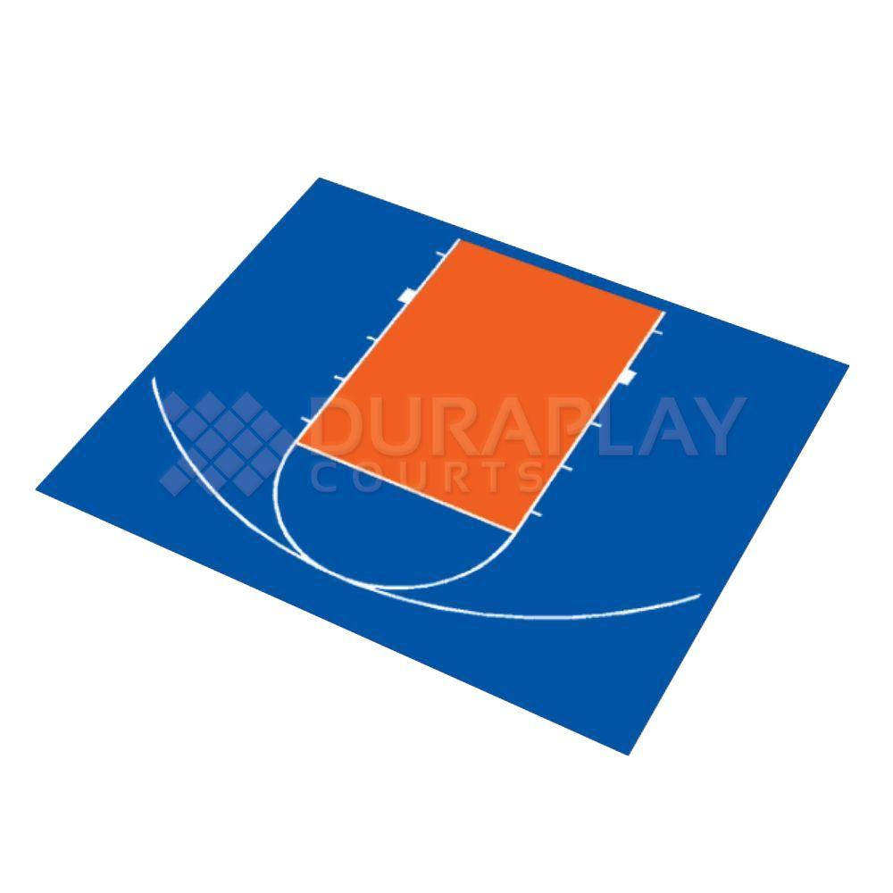 duraplay 30 ft 5 in x 25 ft 5 in half court basketball kit 3h
