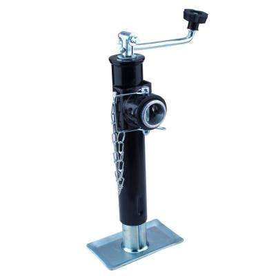 2000 lb. Payload Capacity Top Wind Trailer Jack with Skid Foot
