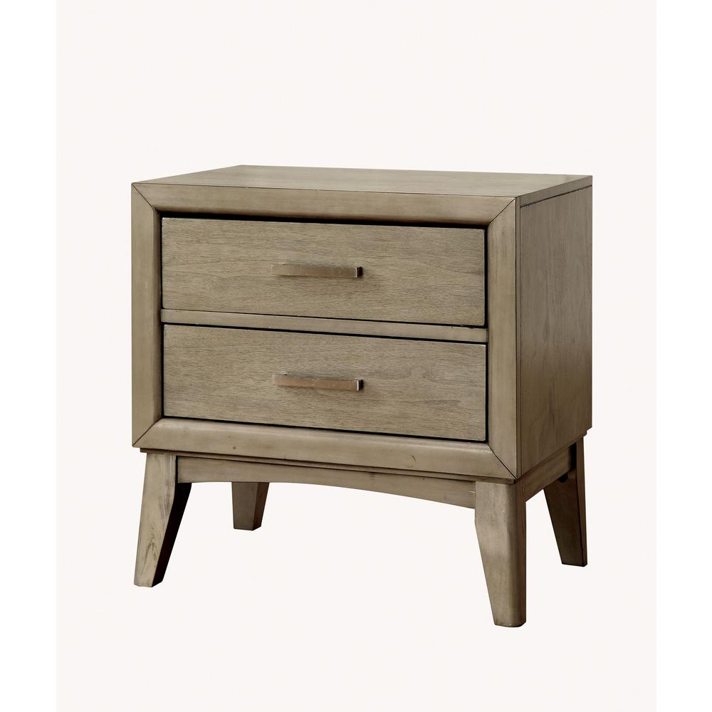 Snyder ii gray contemporary style nightstand