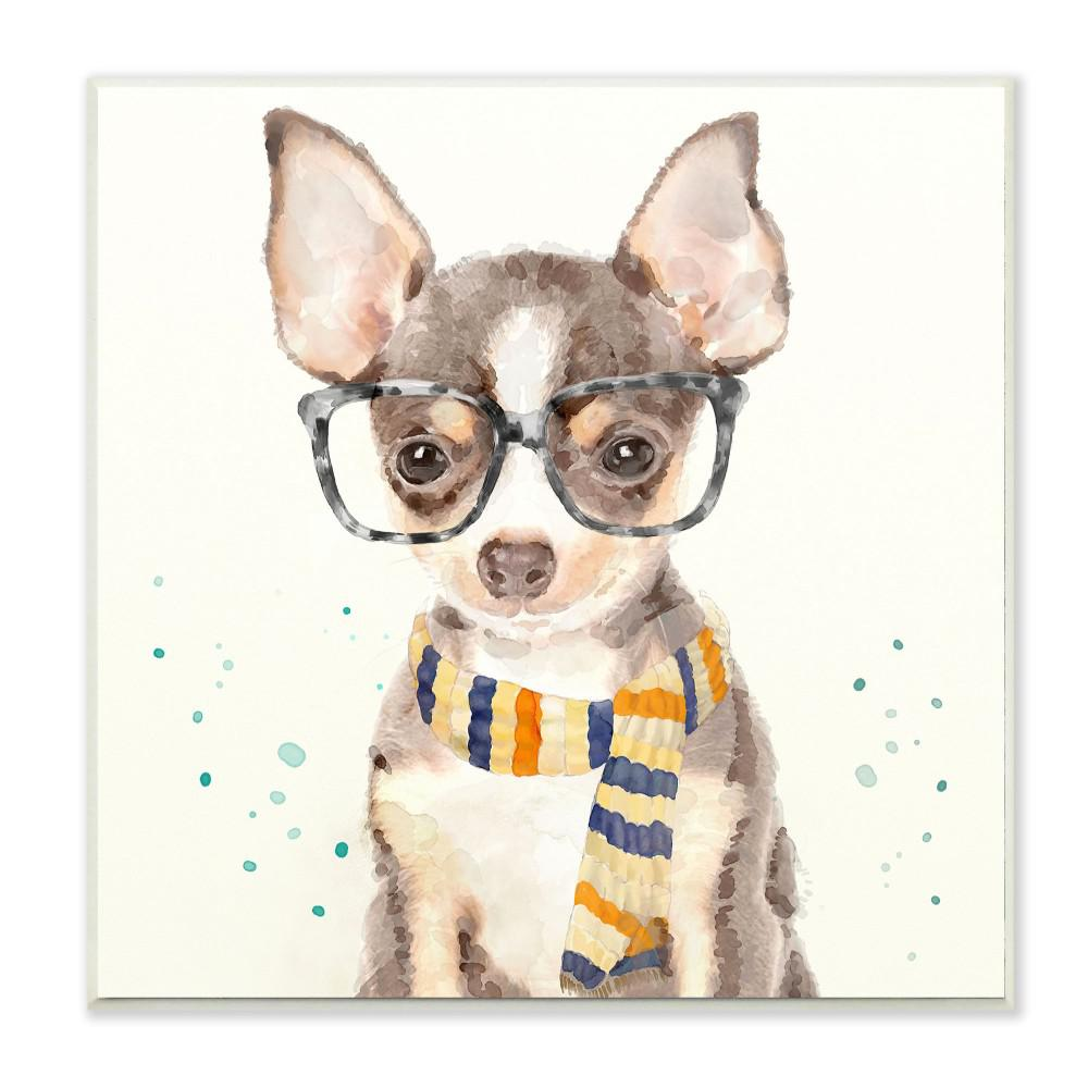 Stupell Industries 12 In X 12 In Hipster Chihuahua Puppy With