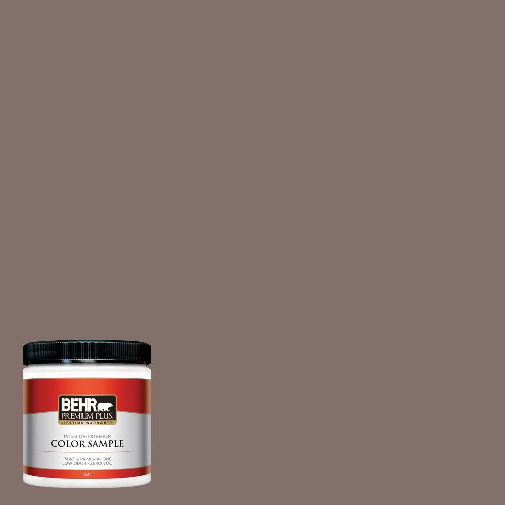 BEHR Premium Plus 8 oz. #740B-5 Bradford Brown Interior/Exterior Paint Sample