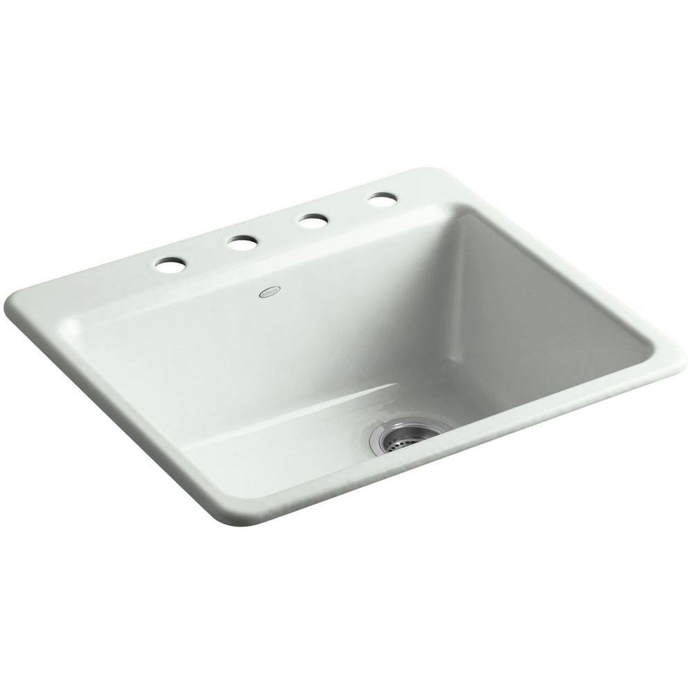 Kohler Single Bowl Drop In Kitchen Sink Salt