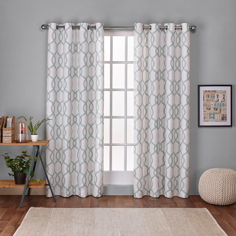 Kochi 54 In W X 108 In L Linen Blend Grommet Top Curtain