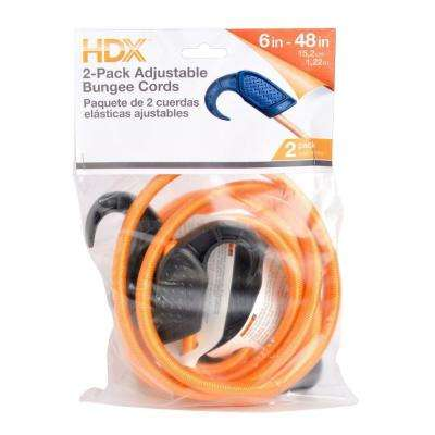 6 in. - 48 in. Adjustable Bungee Cords (2-Pack)