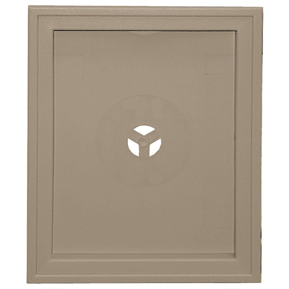 Builders Edge 6.75 in. x 8.75 in. #095 Clay Large Recessed Universal Mounting Block