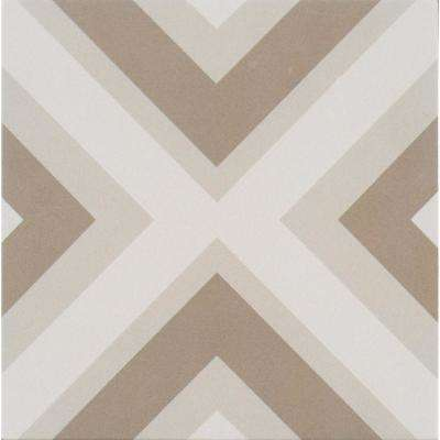 Minta Encaustic 8 in. x 8 in. Glazed Porcelain Floor and Wall Tile (5.33 sq. ft. / case)