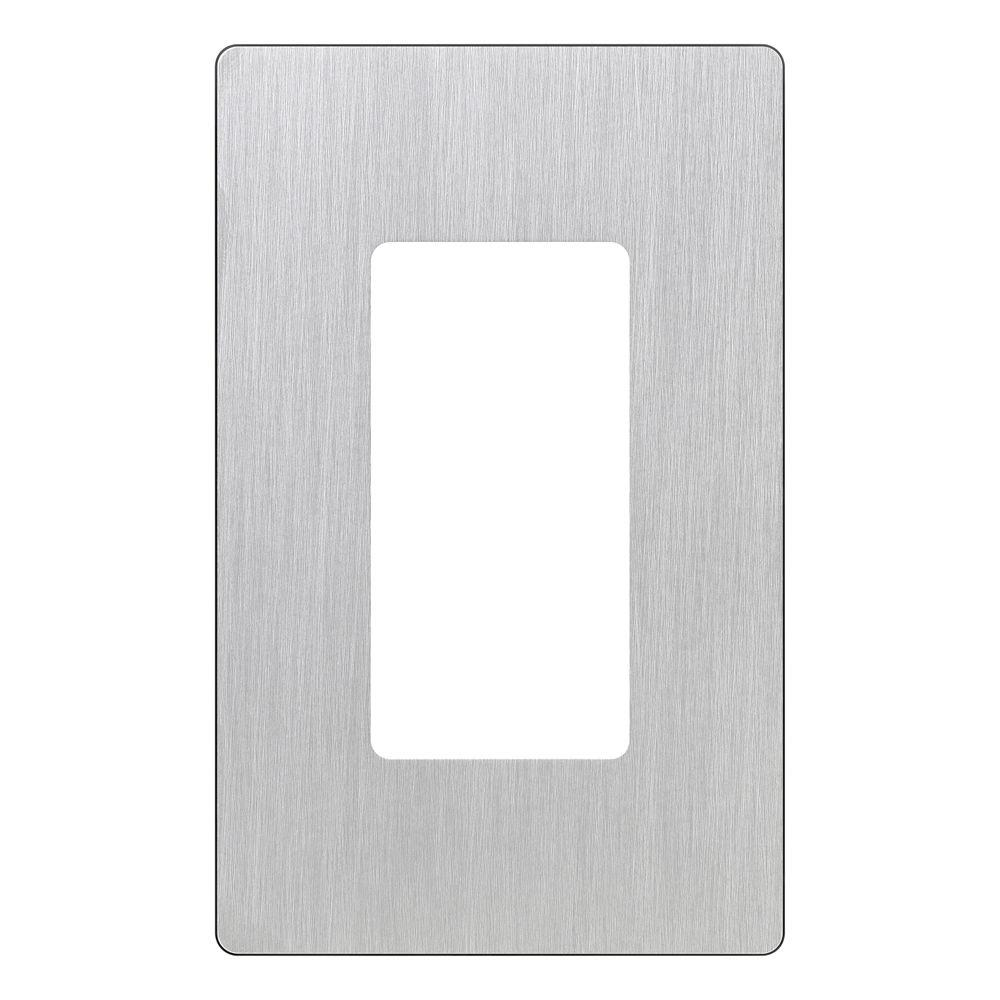 Lutron Claro 1 Gang Decora Wall Plate - Stainless Steel