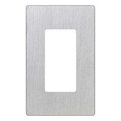 Claro 1 Gang Decorator Wallplate, Stainless Steel