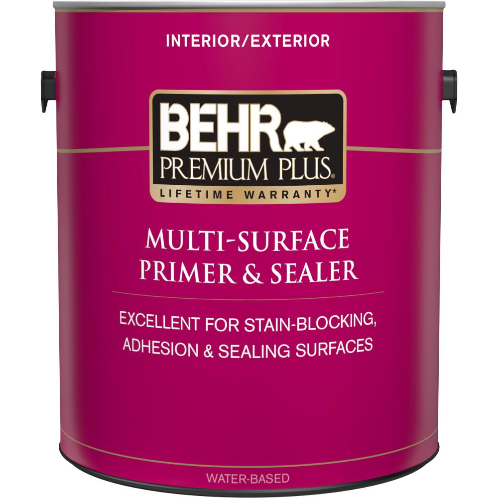 BEHR Premium Plus 1 gal. White Interior/Exterior Multi-Surface Primer and Sealer