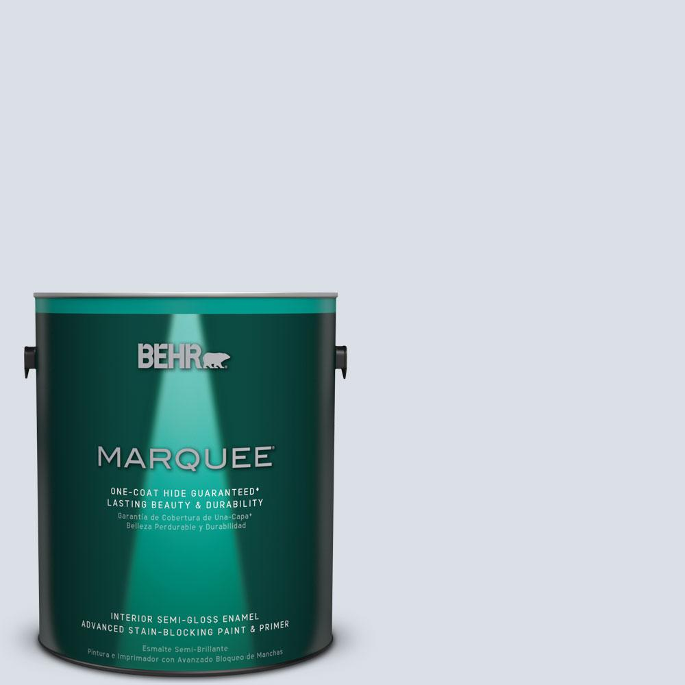 1 gal. #MQ3-26 Mainsail Semi-Gloss Enamel One-Coat Hide Interior Paint and