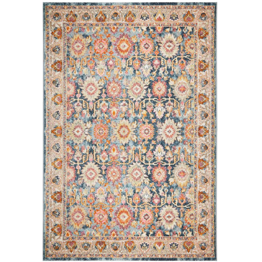 HOMEDYNAMIX Home Dynamix Bazaar Bluebonnet Blue 8 ft. x 10 ft. Indoor Area Rug