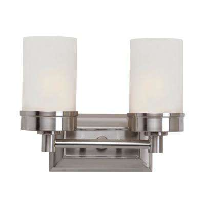 Fusion 2-Light Brushed Nickel Bath Light
