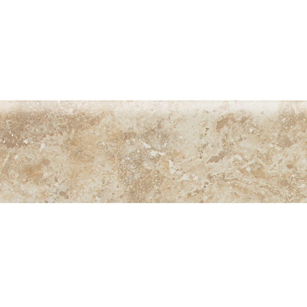 Heathland Raffia 3 in. x 9 in. Glazed Ceramic Bullnose Wall Tile (0.19 sq. ft. / piece)