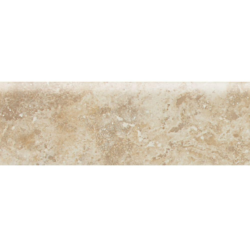 Heathland Raffia 3 in. x 9 in. Glazed Ceramic Bullnose Wall