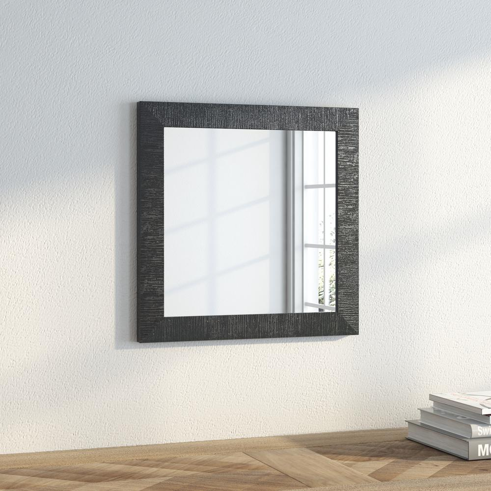 15.5 in. x 15.5 in. Safari Silver Square Wall Mirror