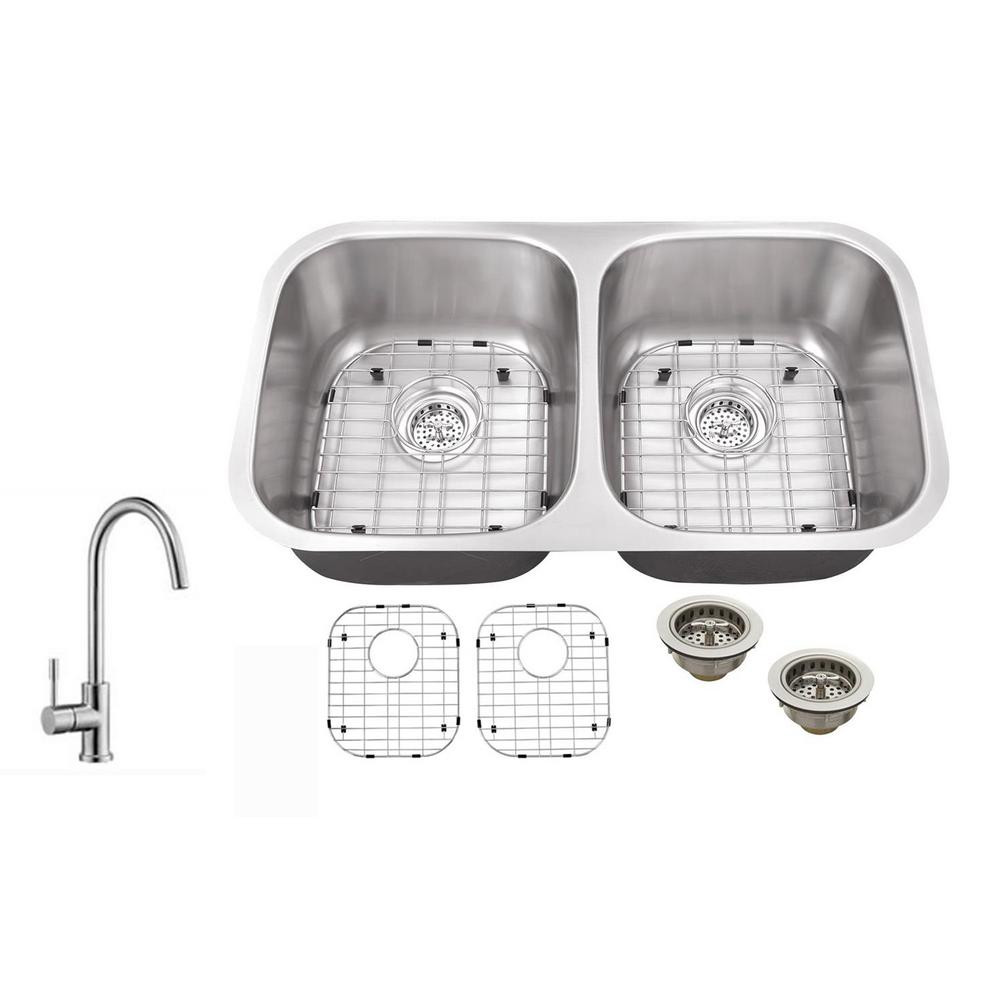 IPT Sink Company Undermount 29 in. 18 Gauge Stainless Steel Kitchen ...