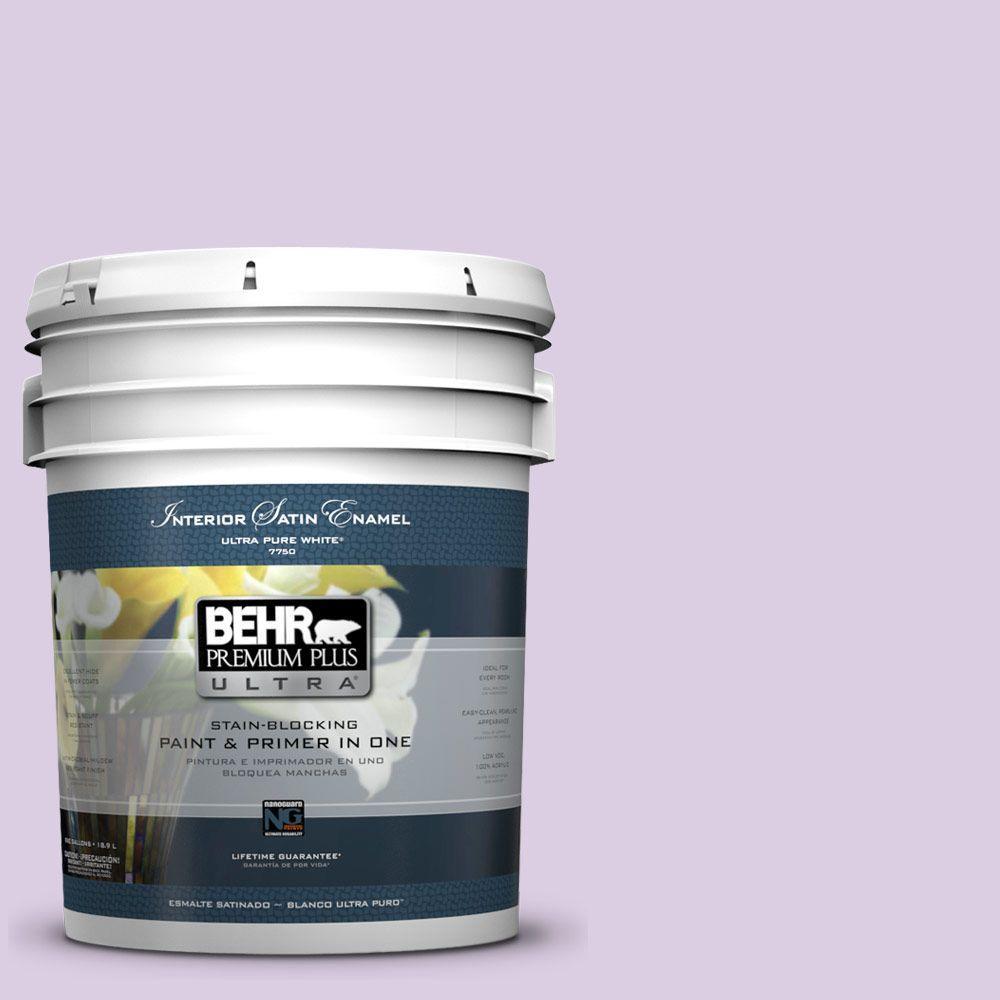 BEHR Premium Plus Ultra 5-gal. #660C-2 Violet Mist Satin Enamel Interior Paint