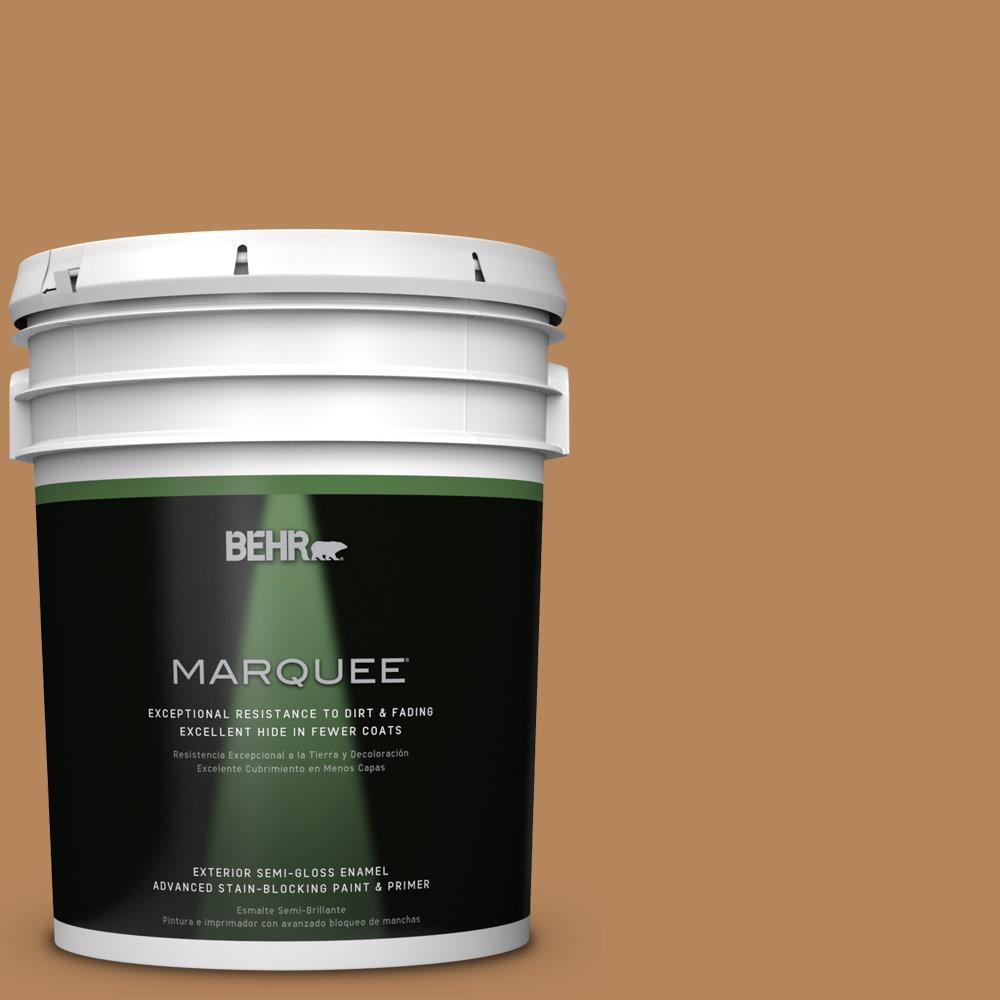 5-gal. #S270-6 Almond Brittle Semi-Gloss Enamel Exterior Paint