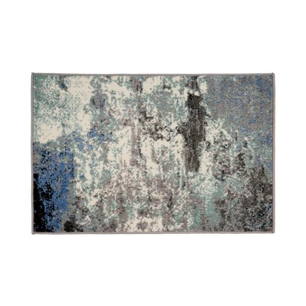 Modern Blue 2 ft. x 3 ft. Abstract Rug